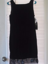 Molly Malloy Black Velour Evening Dress Women's... - $17.99