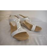 Anne Klein Aktandu Silvery white Strappy Heel Size 6.5 Dressy shoe - $29.69