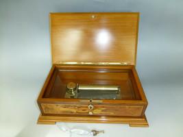 Vintage Reuge Music Box 72 / 3 Walnut Wooden Case & Locker Key (Watch The Video) - $1,633.50
