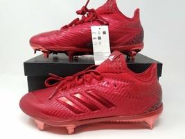 Adidas Adizero Afterburner 4 Mens Metal Baseball Cleats Red B39148 Sz 7.5 - $47.45