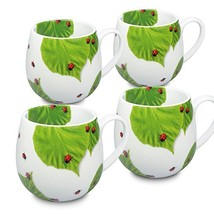 Konitz 4611430876 Ladybug on Leaves Snuggle Mugs, Set of 6, Multi - $45.95