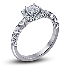 White Gold Fn 925 Silver White Simulated Diamond Engagement Ring Free Shipping 7 - $68.65
