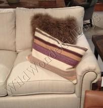 Pottery Barn Tasha Stripe Lumbar Pillow Cover 16x26 Handwoven Neutral New - $39.50