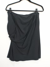 CHRISTIAN DIOR Black Ruched Skirt Size 46 or 8/10 $1000 - $193.35