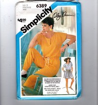 Simplicity 6389 80s Oleg Cassini Jumpsuit Sewing Pattern Size N 10 12 14... - $11.88