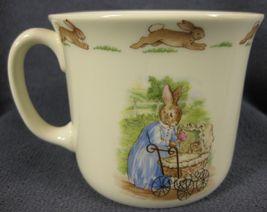 Royal Doulton Bunnykins Hug A Mug FAMILY WITH PRAM 1 Handled Bone China England image 3