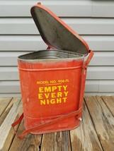Vtg Industrial Trash Can Waste Eagle No 906Fl  Automotive Shop Oil Paint... - $49.50