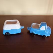 "Camper Planter, Vehicle Plant Pot, Van Life Decor, blue white 5"" ceramic image 3"