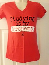 """Ncaa Soffee Georgia Bulldogs """"Studying Is My Frenemy"""" Ladies Red T-SHIRT New - $12.97"""