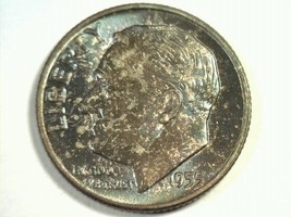 1955 ROOSEVELT DIME GEM UNCIRCULATED GEM UNC. NICE COLOR COIN FROM BOBS ... - $18.00