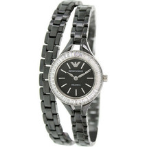Emporio Armani Women's Classic AR1483 Black Ceramic Quartz Watch with Black Dial - $118.72