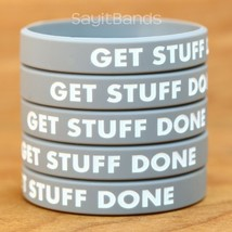 Set of GET STUFF DONE Silicone Bracelet Design - Wholesale Wristband Ban... - $4.93+