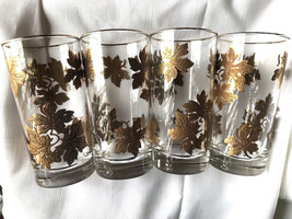 ( 8) Vintage Gladdings (Providence)Tumblers Glasses Gold Trim Highball G... - $233.39