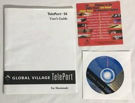 Vintage CD-ROM Software & Manual For Global Village Teleport 56k Modem M... - $11.87