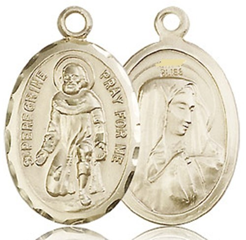 St. peregrine   14kt medal   no chain   0046p