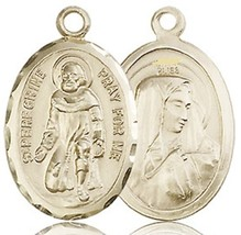 ST. PEREGRINE - 14KT Medal - NO CHAIN - 0046P
