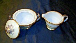 Noritake China Japan Goldora 882 Cream and Sugar with lid AA20-2140 Vintage image 4