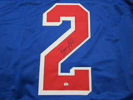 BRIAN LEETCH / NHL HALL OF FAME / AUTOGRAPHED N.Y. RANGERS CUSTOM JERSEY / COA image 3