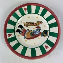 Inspirado Flying Folk Santa Plate Hand Painted Noel Christmas 8 5/8 Inch... - $9.89