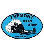 Reproduction Fremont Drag Strip Motor Speedway Metal Sign 11x18 Oval - $29.70