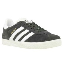 Adidas Boys Casual Sneakers Gazelle C Size US 12K Grey White Gold Suede ... - $40.00