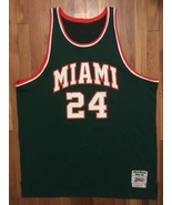 Authentic Miami Hurricanes Rick Barry Throwback Road Green Jersey 56 3xl... - $399.99