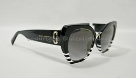 NWD MARC By Marc Jacobs MARC 313/G/S Black White Striated/Gray Lenses Sunglasses - $129.00
