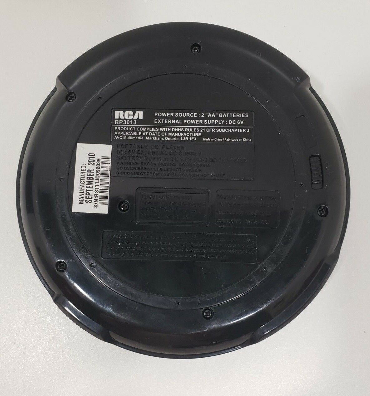 RCA  Portable Compact Disc CD PLAYER w/ LCD Anti-Skip/ FM Stereo image 6