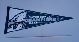 2018 PHILADELPHIA EAGLES Super Bowl LII 52 Champions Pennant U.S.A. Made... - $13.29