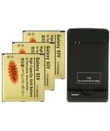 3030mAh High Capacity Gold Battery + USB Dock Charger For Samsung Galaxy S4 - $8.99+