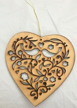 HALLMARK...LASER CUT...WOODEN HEART ORNAMENT - $4.90