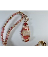 Necklace 24 Inches Handmade Polymer Clay Pendant Kumihimo Woven Braid Wi... - $44.99