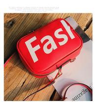 Shoulder bag femaleprint letters Messenger bag casual wild mini mobile p... - $26.13+
