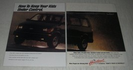 1991 Chevrolet Astro Ad - How to keep your kids under control - $14.99