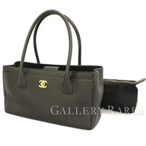 CHANEL Tote Bag Caviar Leather Black Executive Line A67282 Authentic 547... - $2,393.97