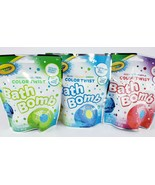 3 Crayola Color-Twist Bath Bomb Fizzie for Kids Multiple Colors Multiple... - $11.87