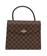 Auth Louis Vuitton Ebene Canvas Malesherbes Top Flap Turn Lock Closure H... - $1,344.45