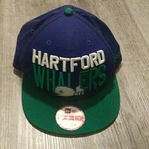 VTG Hartford Whalers New Era Snapback Hat logo throwback 90s 80s - $14.85