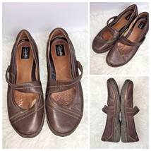 Clarks Artisan Womens Size 10 M Flats Mary Jane Leather Brown - $31.75