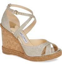 JIMMY CHOO Alanah Espadrille Wedge Sandal Size 38.5 MSRP: $575.00 - $366.29