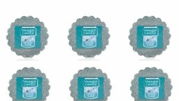 Six (6) Yankee Candle Icy Blue Spruce Wax Melts Tarts Home Fragrance - $18.00