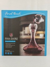 Final Touch Pha-Zaire Wine Aeration System 3 Piece Glass Decanter Aerato... - $59.99