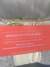 Opalhouse Stitched Medallion Quilt - Gray - Size:Twin - new with tags - STORE image 4