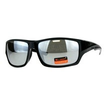 Xloop Mens Sunglasses Rectangular Wrap Around Frame Mirrored UV 400 - £7.80 GBP+