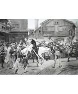SWEDEN 1526 Rebels Against King Before Execution - 1888 Fine Antique Print - $21.60