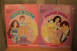 Vintage Golden Mattel Barbie Paper Doll Books UNCUT Jewel Secrets Pretty... - $12.16