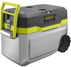 Ryobi Chest Cooler 18-V ONE+ 50 Qt. Portable Wheels Battery Charger Incl... - £172.84 GBP