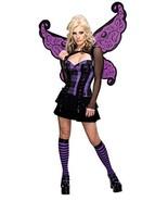 Secret Wishes Women's Enchanted Creature Adult Punk Fairy Costume, Purple/Black, - £31.73 GBP - £32.38 GBP