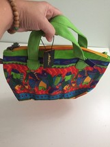LAUREL BURCH Fish Handbag Tote Colorful Purse Summer Beach Bag Bright Co... - $18.99