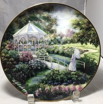 """Garden Gazebo"" Franklin Mint Heirloom 8"" porcelain Plate signed Ltd Ed - $11.83"